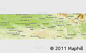 Physical Panoramic Map of Pardubický kraj