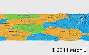 Political Panoramic Map of Pardubický kraj