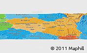 Political Shades Panoramic Map of Pardubický kraj