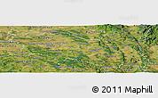 Satellite Panoramic Map of Pardubický kraj