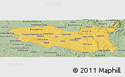 Savanna Style Panoramic Map of Pardubický kraj