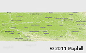 Physical Panoramic Map of Pardubice