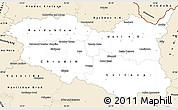 Classic Style Simple Map of Pardubický kraj