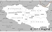 Gray Simple Map of Pardubický kraj