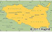 Savanna Style Simple Map of Pardubický kraj