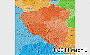Political Shades 3D Map of Plzeňský kraj