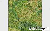 Satellite 3D Map of Plzeňský kraj
