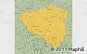 Savanna Style 3D Map of Plzeňský kraj