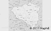 Silver Style 3D Map of Plzeňský kraj