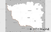 Gray Simple Map of Domažlice