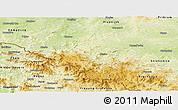 Physical Panoramic Map of Klatovy