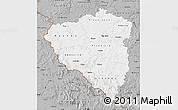 Gray Map of Plzeňský kraj