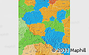 Political Map of Plzeňský kraj