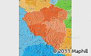 Political Shades Map of Plzeňský kraj