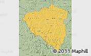 Savanna Style Map of Plzeňský kraj