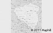 Silver Style Map of Plzeňský kraj