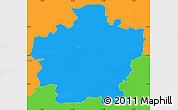 Political Simple Map of Plzeň-město