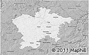 Gray 3D Map of Plzeň-sever