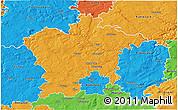 Political 3D Map of Plzeň-sever