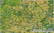 Satellite 3D Map of Plzeň-sever