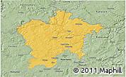 Savanna Style 3D Map of Plzeň-sever