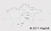Silver Style 3D Map of Plzeň-sever, single color outside