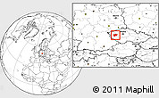 Blank Location Map of Plzeň-sever