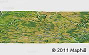 Satellite Panoramic Map of Plzeň-sever