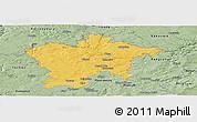 Savanna Style Panoramic Map of Plzeň-sever