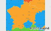 Political Simple Map of Plzeň-sever
