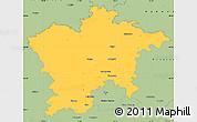 Savanna Style Simple Map of Plzeň-sever