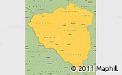Savanna Style Simple Map of Plzeňský kraj