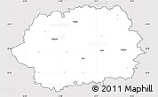 Silver Style Simple Map of Tachov, cropped outside
