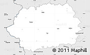 Silver Style Simple Map of Tachov
