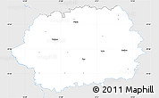 Silver Style Simple Map of Tachov, single color outside