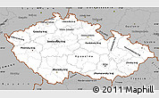 Gray Simple Map of Czech Republic