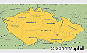 Savanna Style Simple Map of Czech Republic