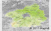 Physical 3D Map of Středočeský kraj, desaturated
