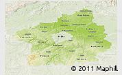 Physical 3D Map of Středočeský kraj, lighten