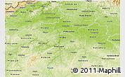 Physical 3D Map of Středočeský kraj