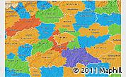 Political 3D Map of Středočeský kraj