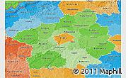 Political Shades 3D Map of Středočeský kraj