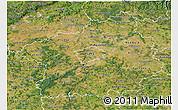 Satellite 3D Map of Středočeský kraj