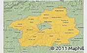 Savanna Style 3D Map of Středočeský kraj