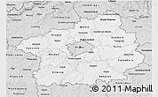 Silver Style 3D Map of Středočeský kraj