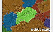 Political Map of Beroun, darken