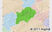 Political Map of Beroun, lighten