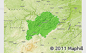 Political Map of Beroun, physical outside