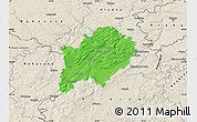 Political Map of Beroun, shaded relief outside