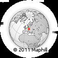 Outline Map of Kolín